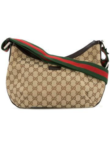 Gucci Vintage Gg Shelly Line Bag - Brown
