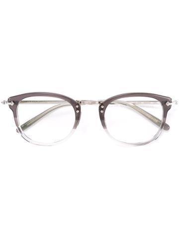 Oliver Peoples Round Frame Glasses, Grey, Acetate/metal