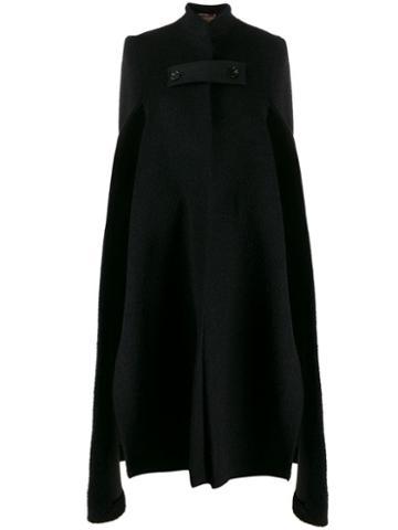 Ssheena Cape Coat - Black