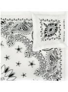 Amiri Patterned Neck Scarf - White