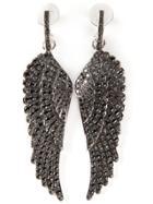 Garrard Diamond Wing Earrings - Black