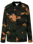Sacai Sacai Camouflage Shirt - Green