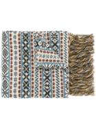 Kent & Curwen Fringed Patterned Scarf - Multicolour