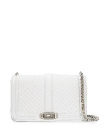 Rebecca Minkoff Chevron Quilted Bag - White