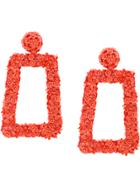 Sachin & Babi Fleur Dusk Earrings - Yellow & Orange