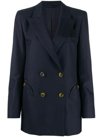 Blazé Milano Striped Pattern Blazer - Blue