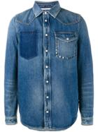Valentino Distressed Denim Shirt - Blue