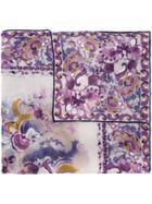 Loro Piana Arabesque Print Scarf - Pink & Purple