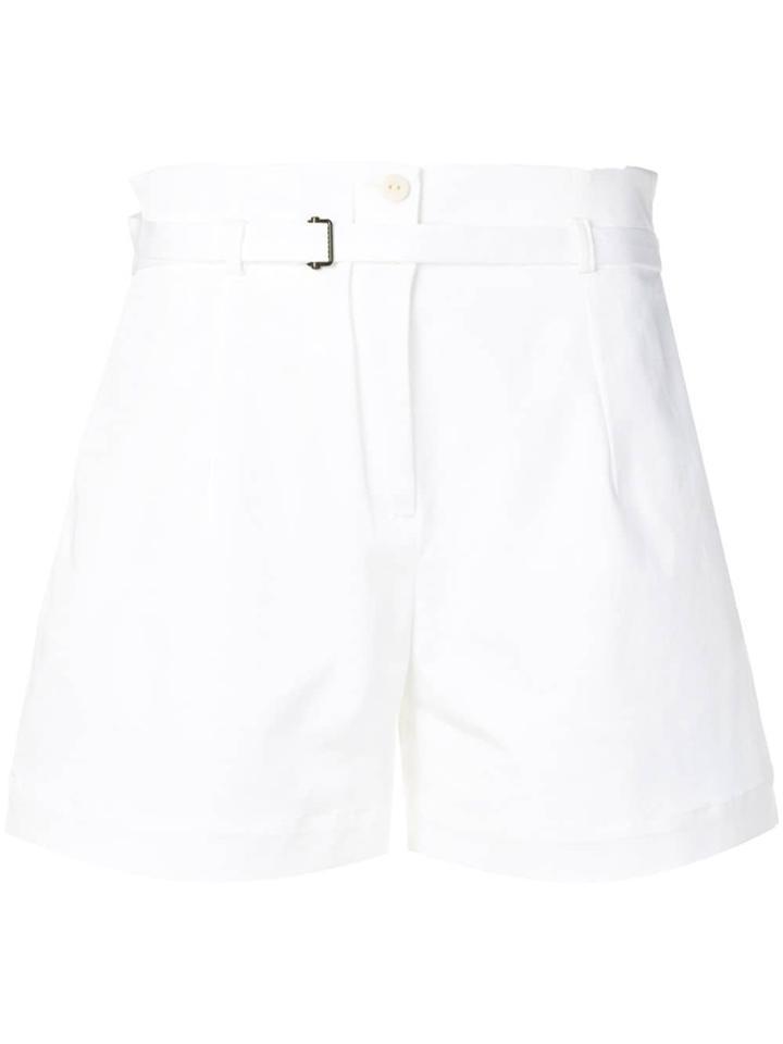 Isabel Benenato Belted Shorts - White