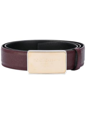 Dolce & Gabbana - Branded Buckle Belt - Men - Calf Leather - 95, Pink/purple, Calf Leather