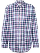 Our Legacy Long-sleeved Checked Shirt - Pink & Purple