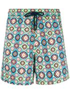 Etro Geometric Print Swim Shorts - Multicolour
