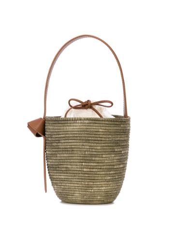 Cesta Collective Seersucker Lunchpail Bag - Brown