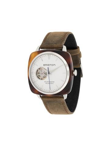 Briston Watches Clubmaster Iconic Acetate Watch - White