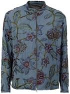 By Walid Floral Embroidered Zip Jacket