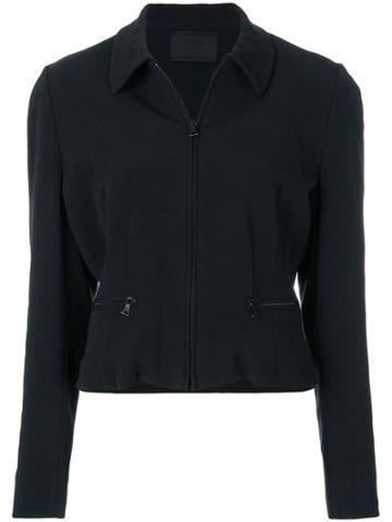 Prada Vintage Zipped Fitted Jacket - Black