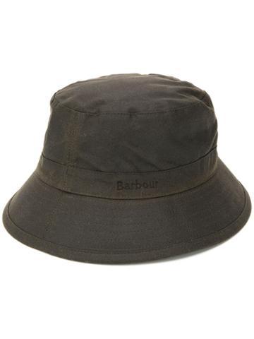 Barbour Stitch Detail Bucket Hat - Green