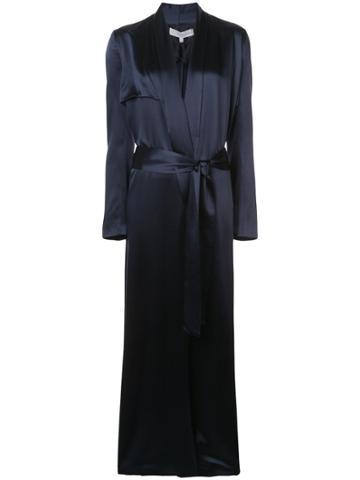 Galvan Robe Duster Coat - Blue