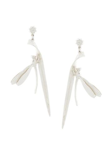 Alex Monroe - Damselfly Earrings - Women - Silver/amethyst - One Size, Women's, Metallic, Silver/amethyst
