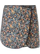 Isabel Marant Prunella Skirt, Women's, Size: 38, Orange, Silk/cotton