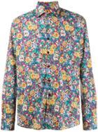 Etro Floral-print Shirt - Purple