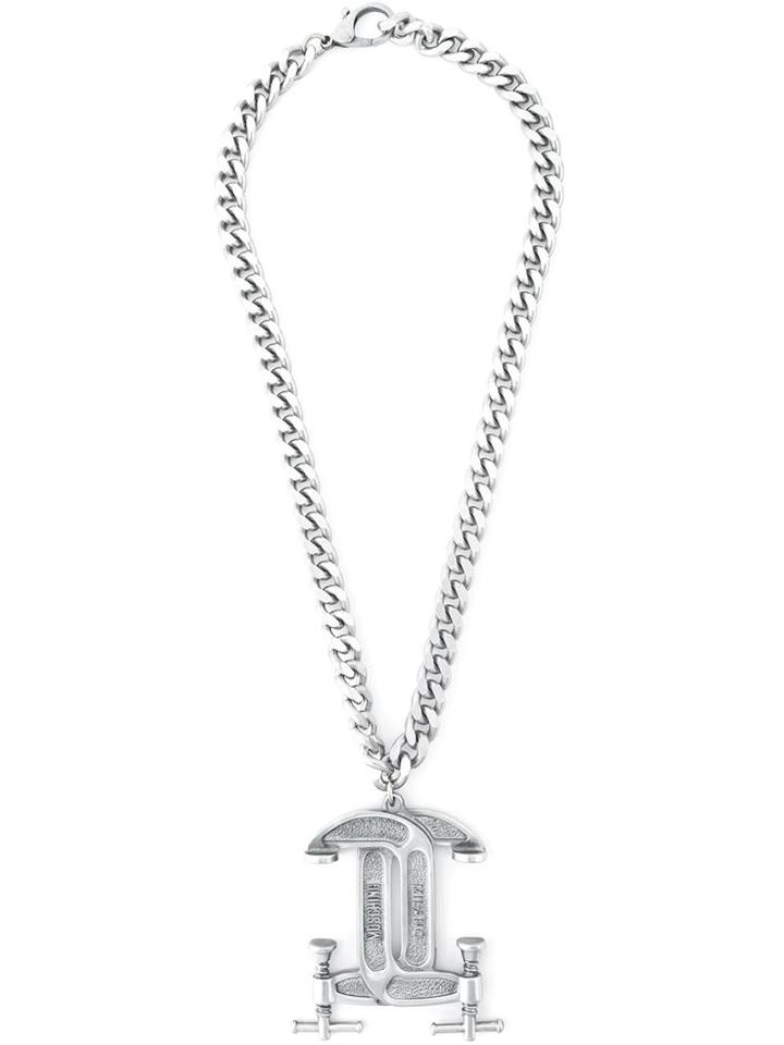 Moschino Interlocking C-clamp Necklace