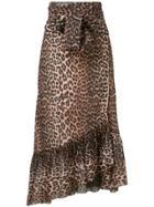 Ganni Tilden Mesh Skirt - Brown