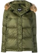 Blauer Fur Hood Trim Puffer Jacket - Green