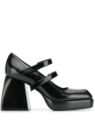 Nodaleto Block Heel Pumps - Black