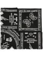 Ktz - Church Print Scarf - Unisex - Cotton - One Size, Black, Cotton