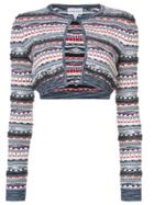 Carven Cropped Knit Cardigan - Multicolour