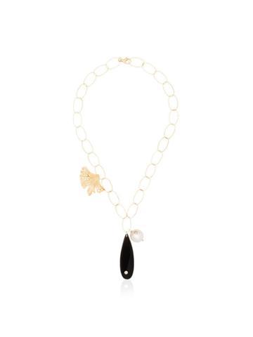 Apples & Figs 24kt Gold Vermeil Sea Shore Pendant Necklace - Gold +