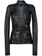 Lanvin Patchwork-effect Lace Jacquard Top