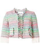 Ava Adore Cropped Tweed Jacket - Multicolour