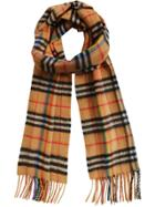 Burberry Vintage Rainbow Check Cashmere Scarf - Brown
