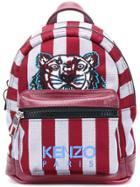 Kenzo Small Tiger Striped Backpack - Red