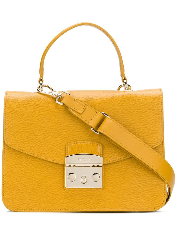 Furla Small Metropolis Tote - Yellow & Orange
