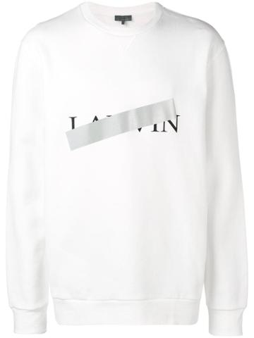 Lanvin Lanvin Print Sweatshirt - White