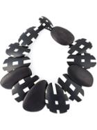 Monies Checked Beads Necklace