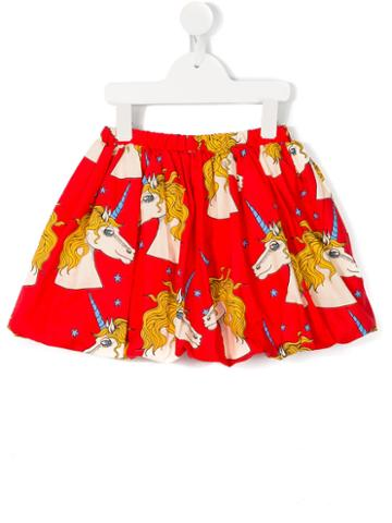 Mini Rodini Unicorn Star Skirt, Girl's, Size: 7 Yrs, Red