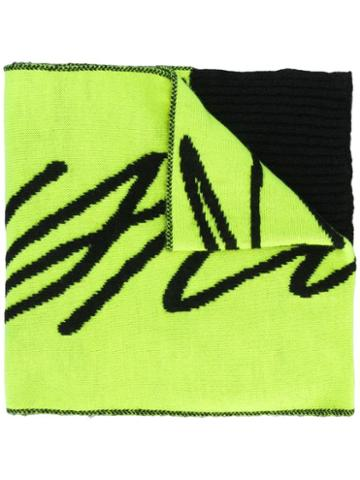 Just Cavalli Woven Logo Scarf - Green