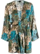 Pinko Floral Playsuit - Green