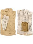 Gala Gloves Driving Fingerless Gloves - Neutrals