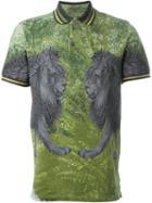 Etro Lion Print Polo Shirt