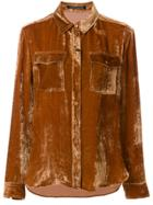 Luisa Cerano Velvet Shirt - Brown