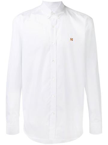 Maison Kitsuné Button Down Collar Shirt, Men's, Size: 41, White, Cotton
