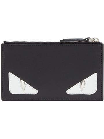 Fendi Zip Card Holder - Black