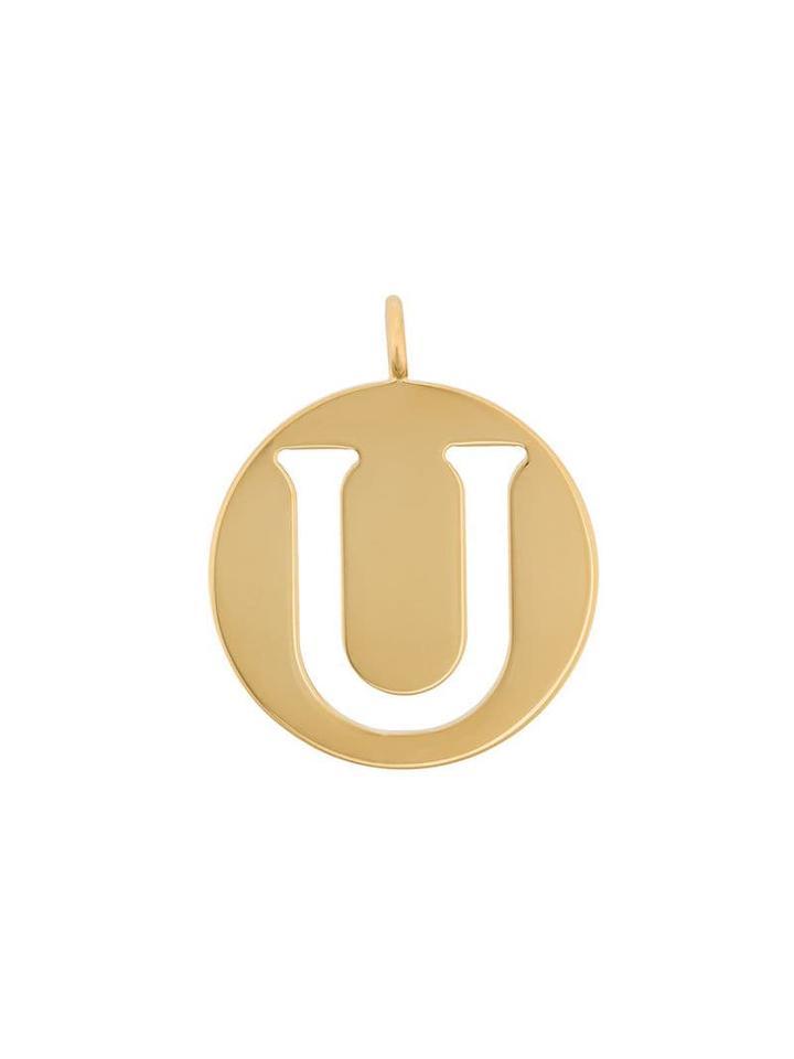 Chloé U Coin Pendant - Metallic