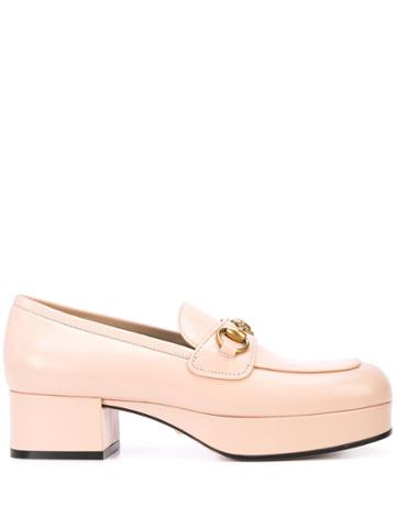 Gucci Horsebit Slip-on Loafers - Pink