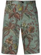 Etro Floral Print Shorts - Green